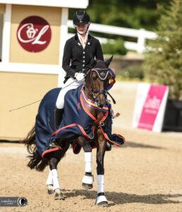 Tessa Geven and Tullymor's Houdini won the USEF Pony Rider Dressage National Championship. Lindsay Berreth Photos